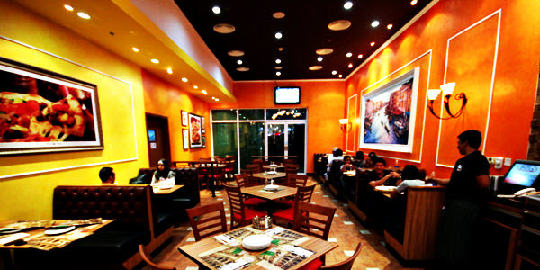 ... Hanging Off Of Ceilings, To Carpet Flooring, And Edgy Brick Walls, You  Can Find Multiple Pizza Restaurant Interior Design Ideas To Elevate Your  Décor.