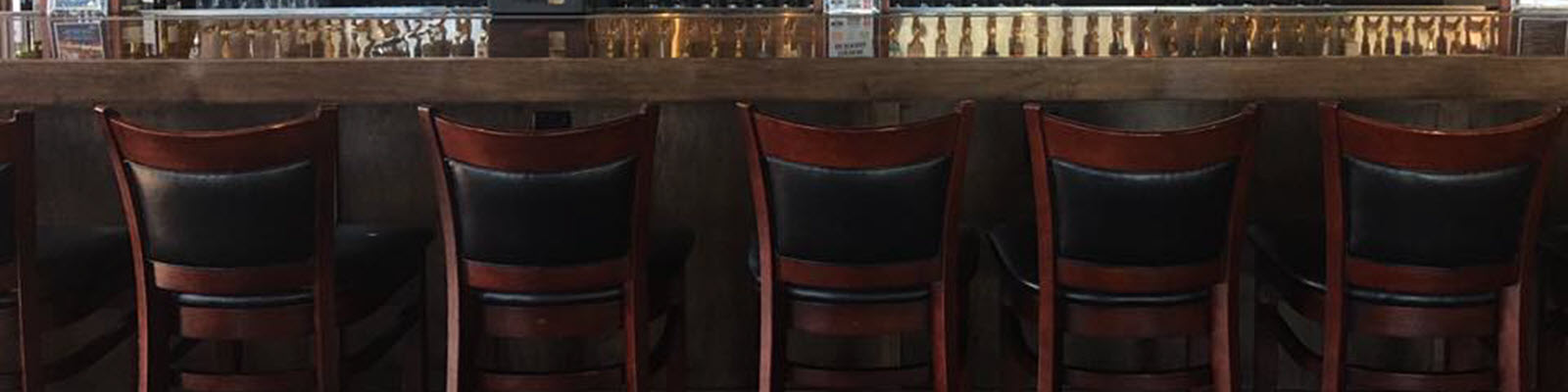 Padded restaurant wood bar stools