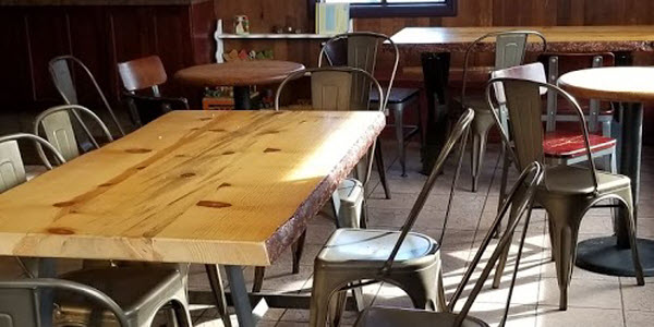 industrial chairs and tables for restaurants