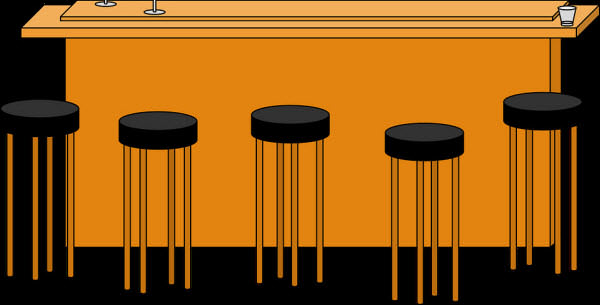 Bar stools placement diagram