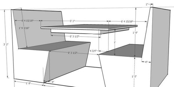 Booths and table diagram