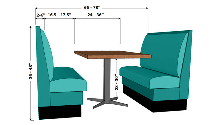 Dining booths and table diagram