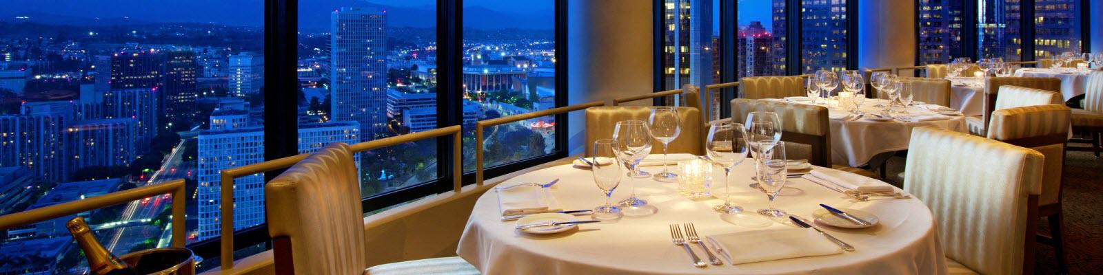 Fine dining restaurant setting