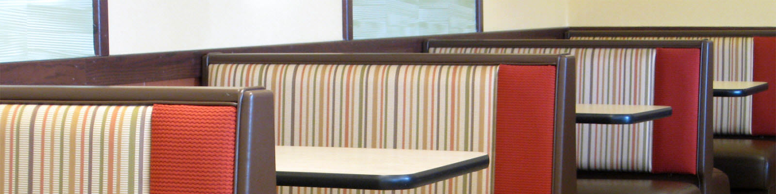 Diner booths and tables
