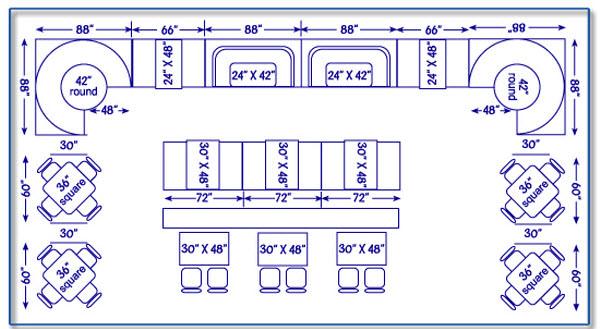Restaurant sitting diagram