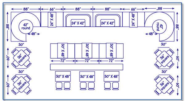 Restaurant sitting layout diagram