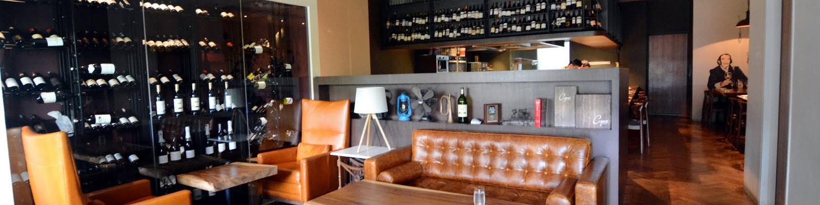 Wine bar setting