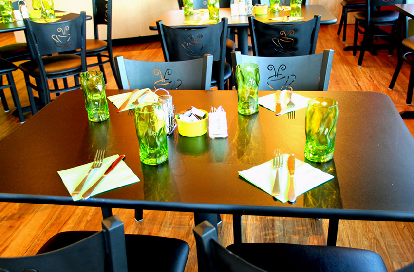 Metal Coffee Cup Restaurant Chairs